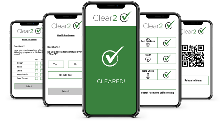 Clear2 safety screening app images