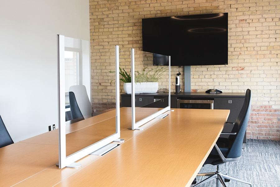 Plastic Screens form Loftwall Divide Huddle Room Spaces